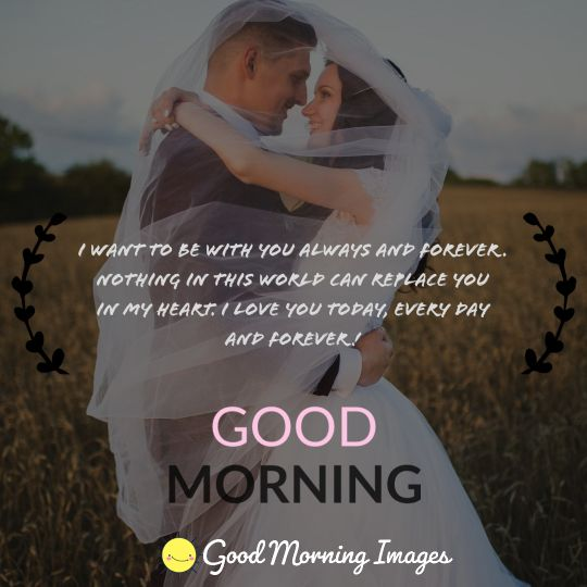 good morning images with bride