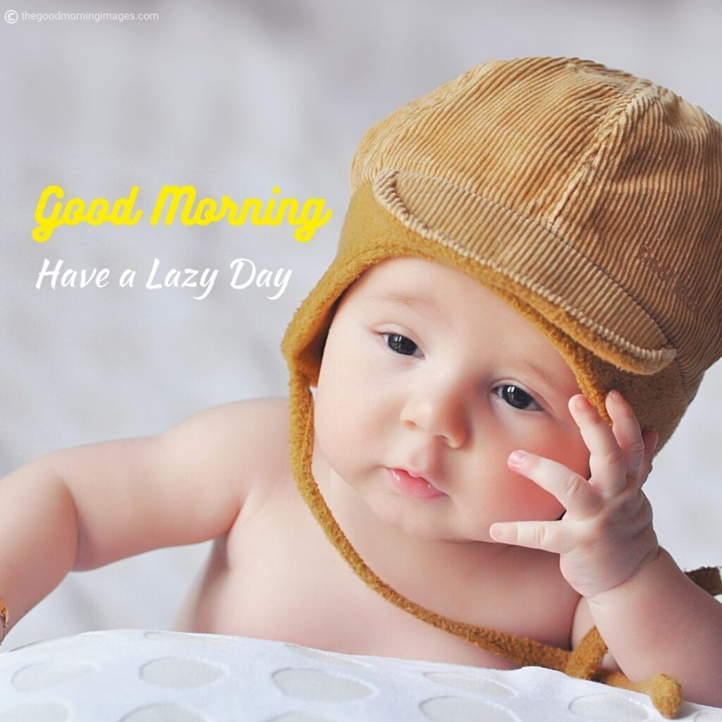Good morning images of baby funny