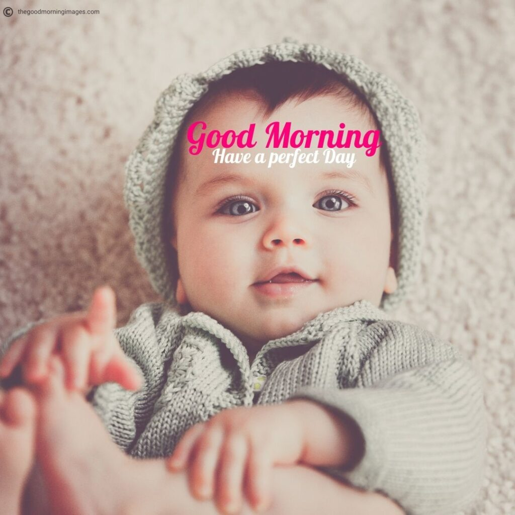 small baby good morning images