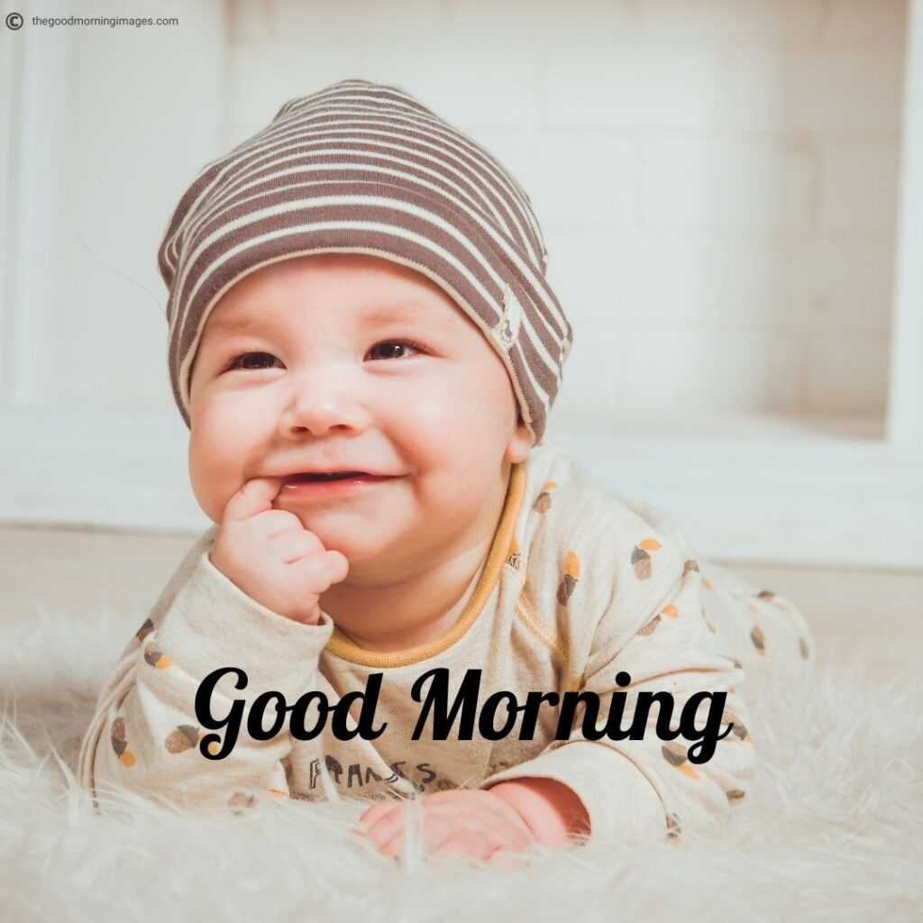 smiling Good morning images of baby
