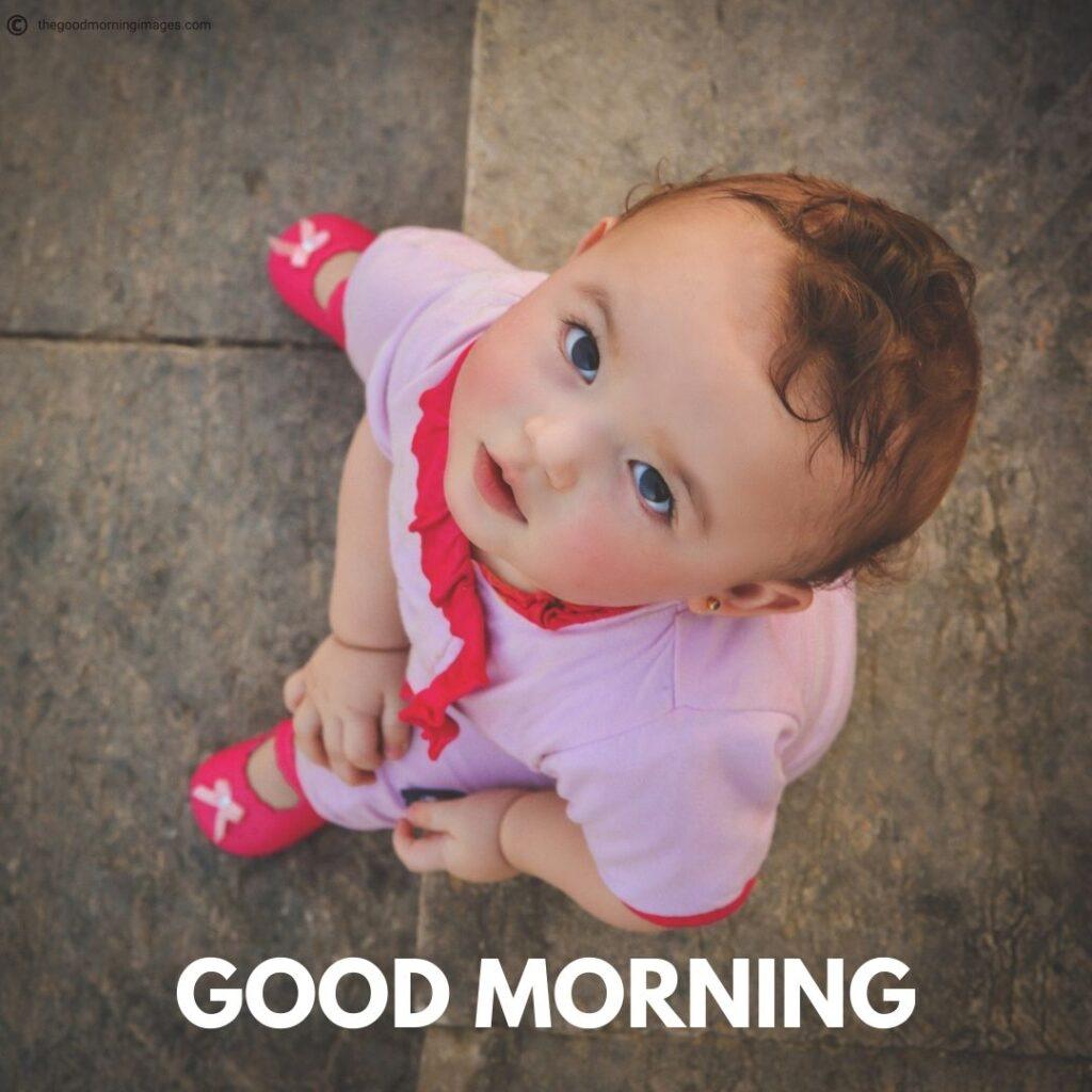 cute baby boy good morning