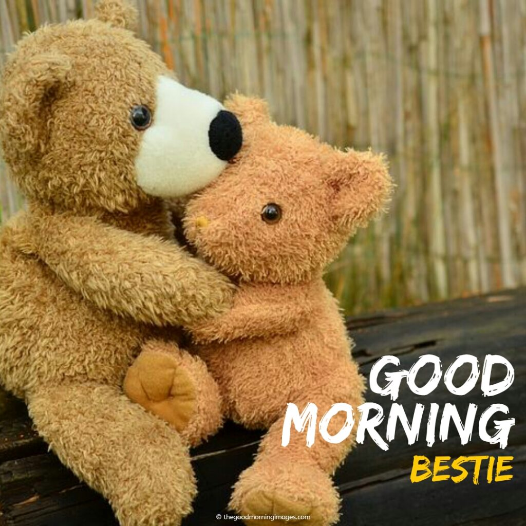 good morning friends images with teddy bear