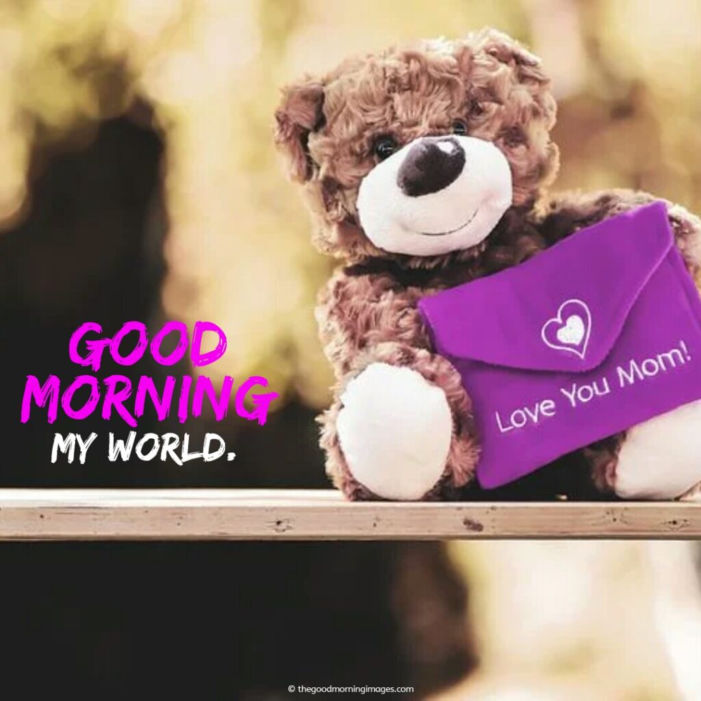 good morning teddy images mother