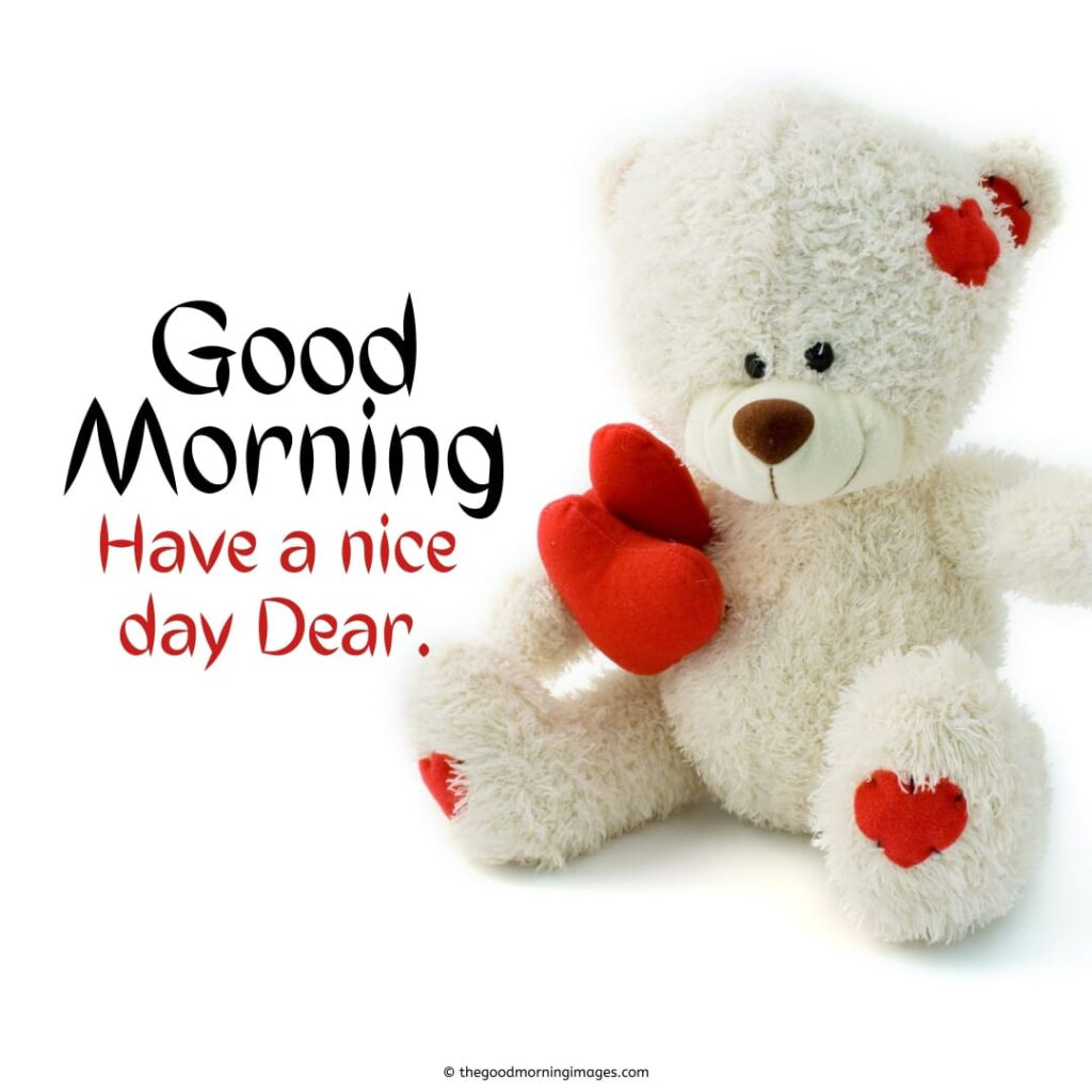 good morning teddy bear love images