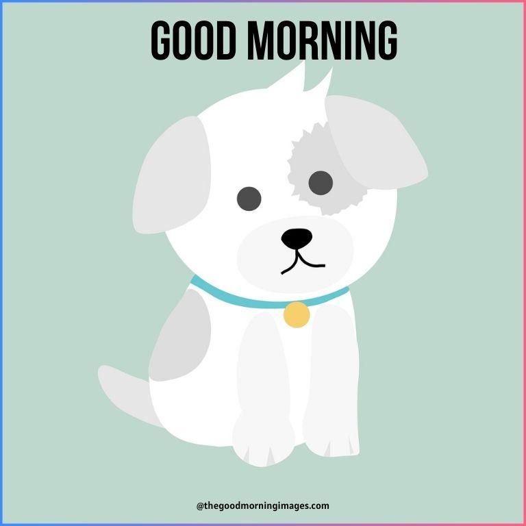 good morning cartoon dog