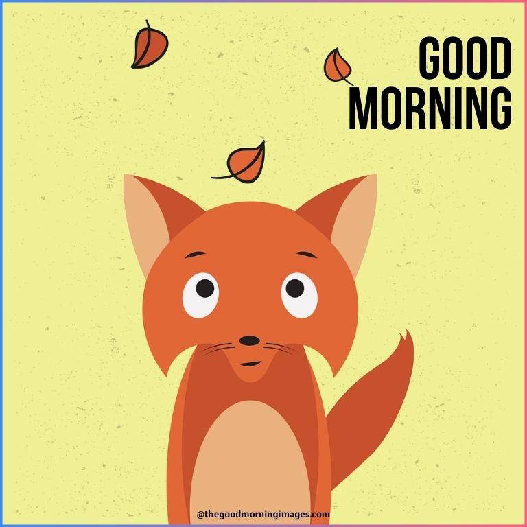 cute good morning cartoon gif
