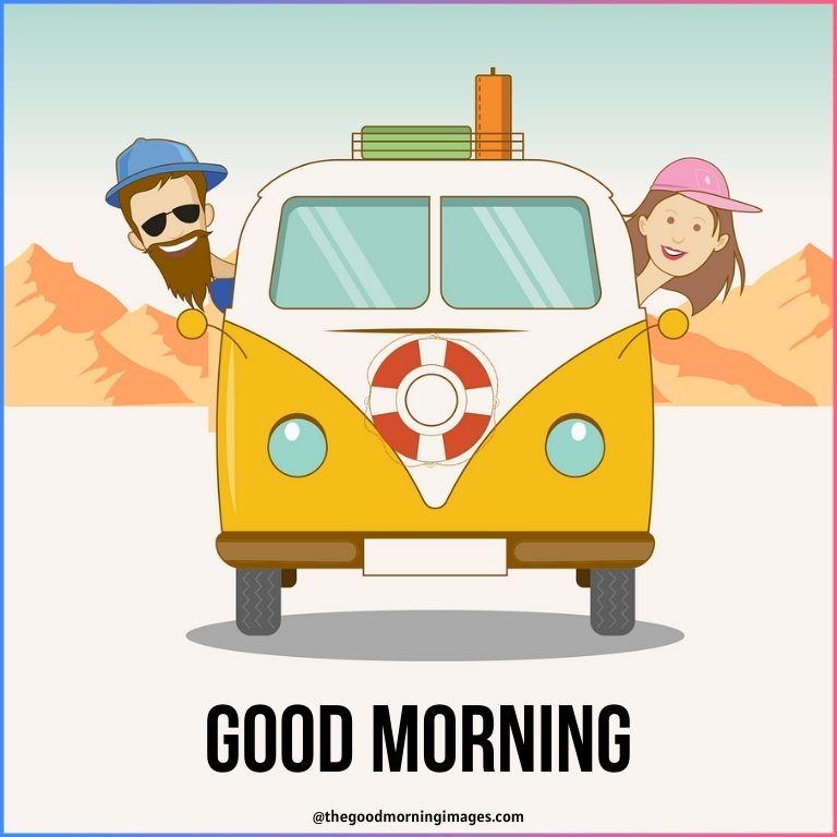 good morning cartoon couple