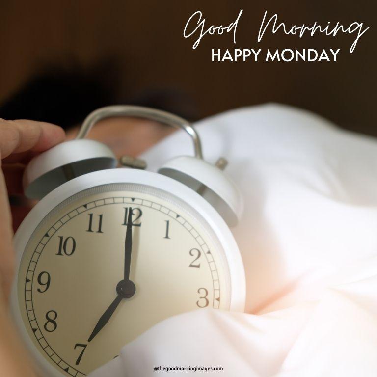 Good Morning Monday alarm clock images