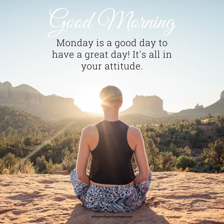 Good morning Monday picture with quotes and yoga