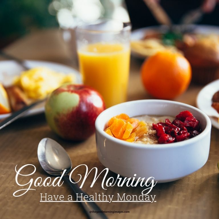 Monday morning images with breakfast
