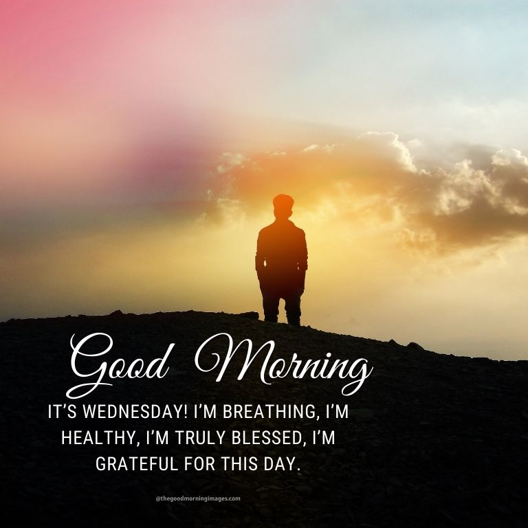 It's Wednesday! I'm breathing, I'm healthy, I'm truly blessed, I'm grateful for this day.