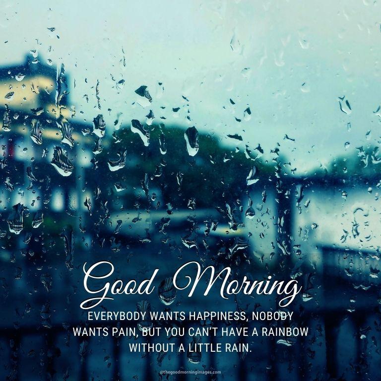 Rainy Good Morning quote
