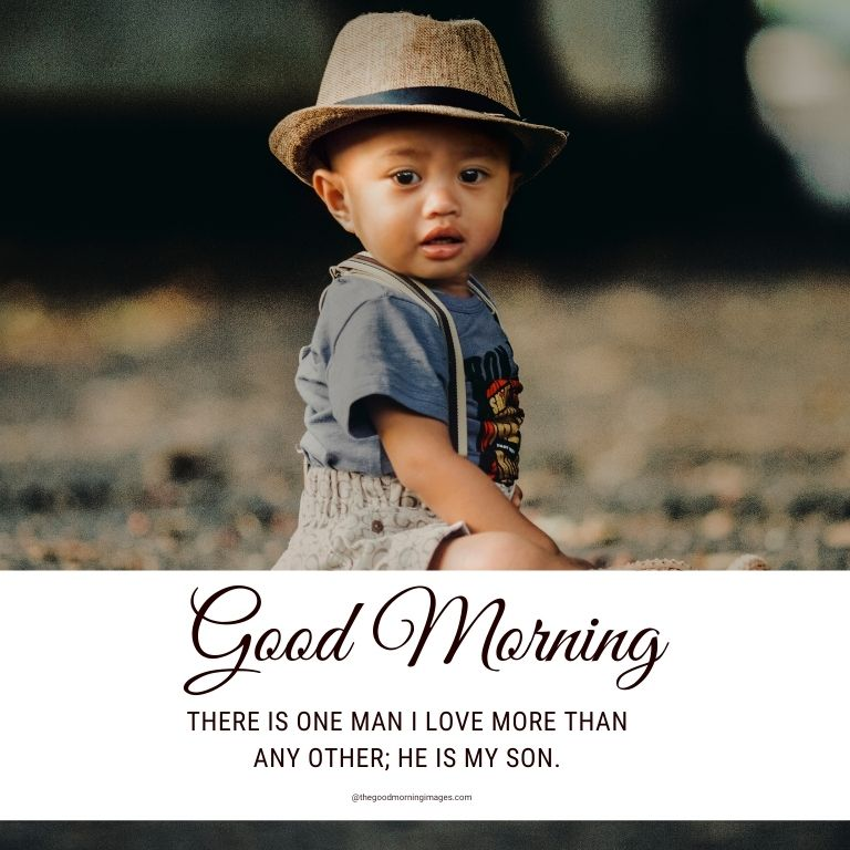 Good Morning to son images