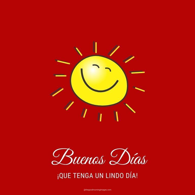 Good Morning in Spanish sunrise