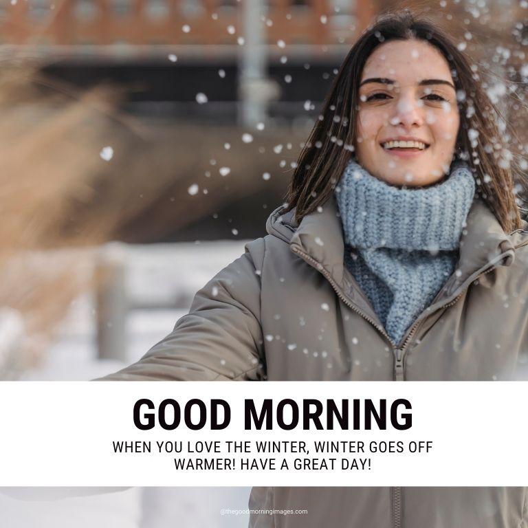 winter enjoy good morning images