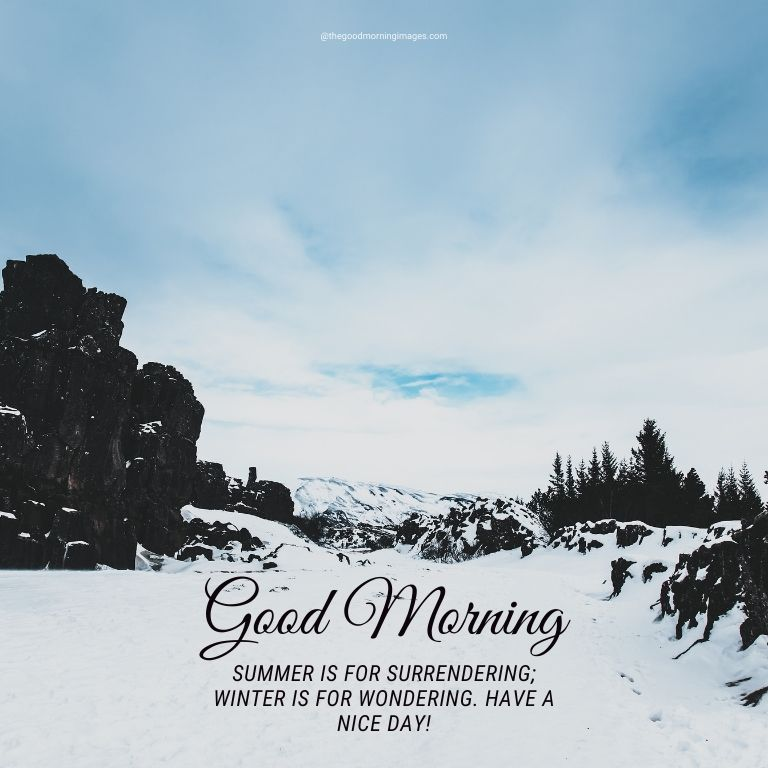 winter snow good morning images