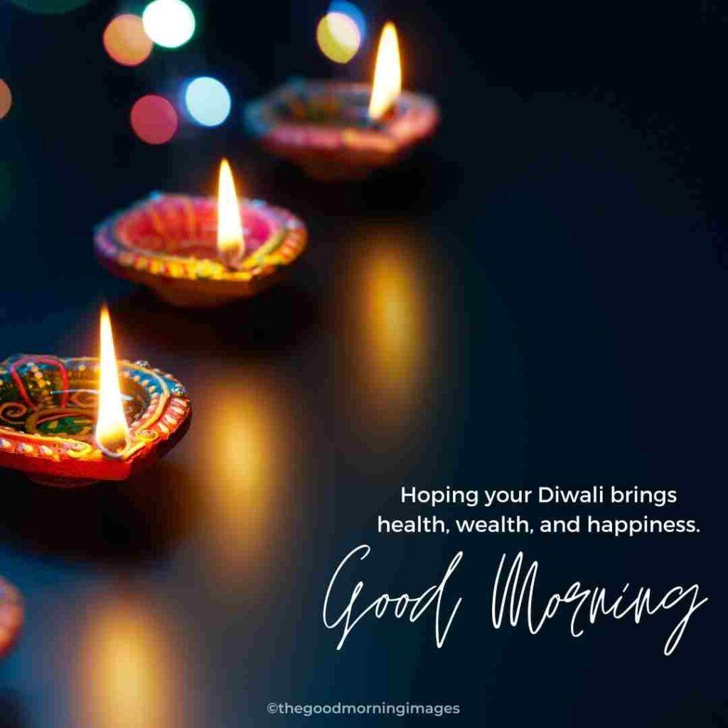 good morning diwali images