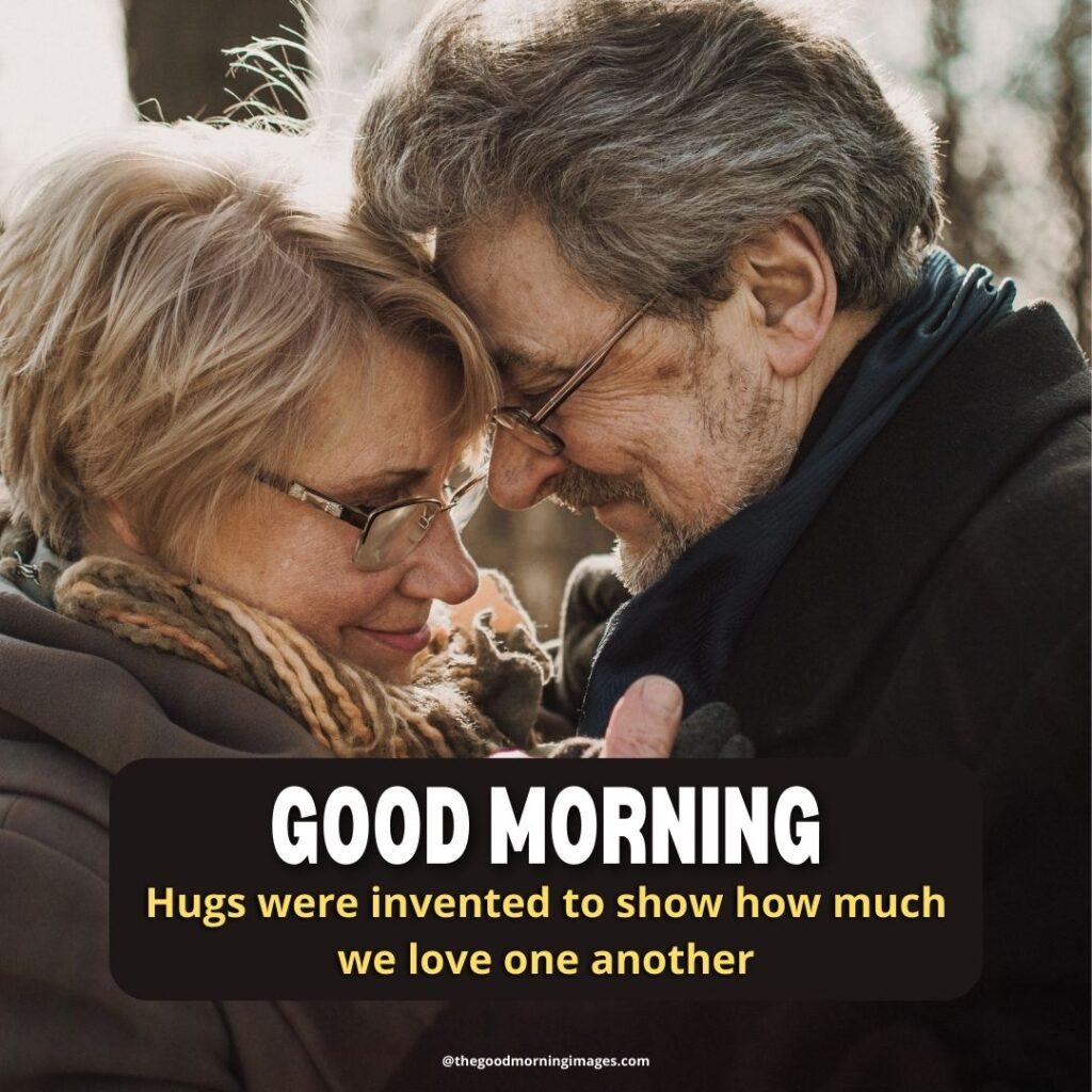 good morning Hug images couple old