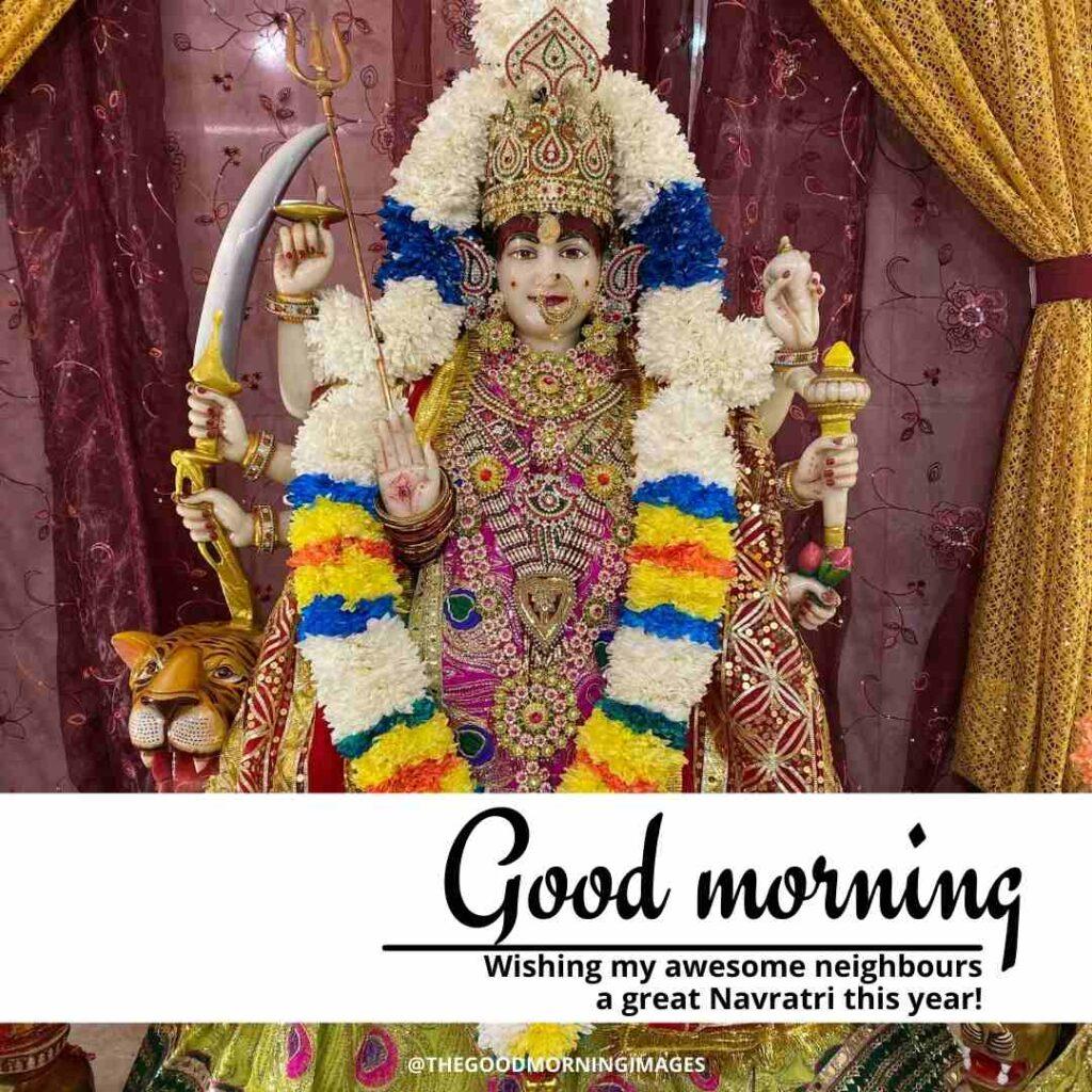 good morning happy navratri images