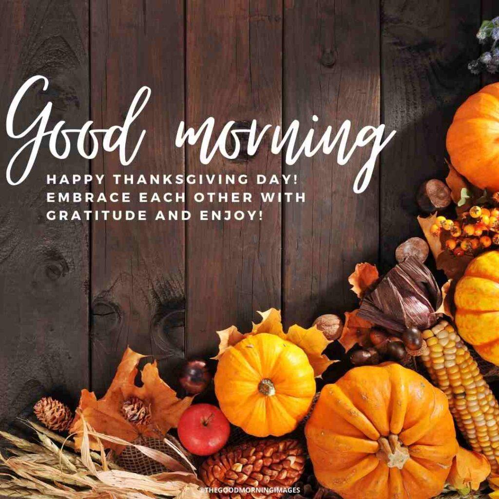 good morning thanksgiving captions